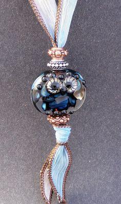 Handmade Glass Lampwork Bead Owl Pendant by PeggySudzLampwork, $55.00