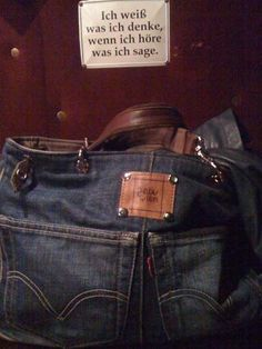 Bags from recycled jeans-Inspiration only