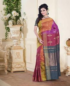 Mirage Sarees Tussar Silk Designer Printed Saree PRJ4709