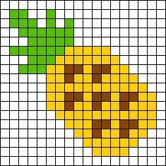 Pineapple perler bead pattern
