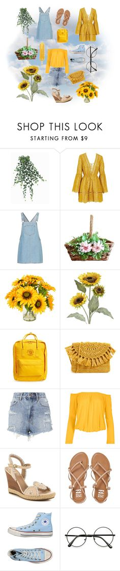 """""""Saturday Sun"""" by lulunicorn ❤ liked on Polyvore featuring Pier 1 Imports, Creative Displays, Fjällräven, Mar y Sol, Ksubi, Venus, Jack Rogers, Billabong, Converse and plus size clothing"""