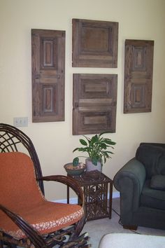 These repurposed old redwood panels were originally from a barn.