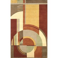 Bring in a look that's bold and warm with the KAS Rugs Signature Rust/Coffee Art Deco Area Rug. Motif Art Deco, Art Deco Rugs, Art Deco Design, Art Deco Art, Art Deco Pattern, Art Nouveau, Coffee Art, Coffee Time, Coffee Cups