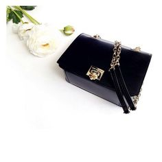New Lea Black! #annefontaine #new #handbag #accessories #bag #black #french #fashion #designer #flowers #spring #beautiful www.annefontaine.com