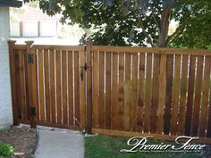 Wood Fence Gate