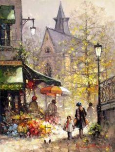 Pierre Auguste Renoir, Pierre Bonnard, Paris Painting, Oil Painting On Canvas, Great Paintings, Beautiful Paintings, Georges Seurat, Henri Rousseau, Edward Hopper