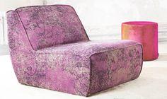 Overdyed rug furniture