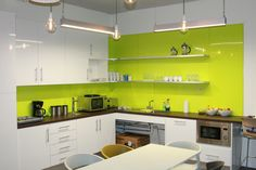 Polarex Hygienic PVC Wall Cladding in Dynamic Lime. Our cladding makes a stylish and hygienic alternative to tiles. Cladding Sheets, Pvc Cladding, Steel Cladding, Ceiling Cladding, Pvc Wall Panels, Ceiling Panels, Osb Board, Food Safety Standards, Lime Green Walls