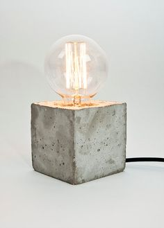 LJ Lamp alpha concrete table lamp with textile cable by LJLamps Decor, Household Furniture, Concrete Design, Lamp, Lamp Bases, Concrete Lamp, Concrete Table Lamp, Concrete Table, Diy Lamp