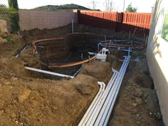 Plumbing, gas and electric lines complete out back