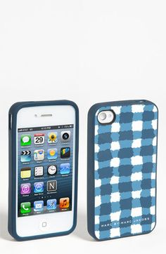 MARC BY MARC JACOBS Molly Check iPhone 5 Case | Nordstrom $38 Inspektor Gadget, 5s Cases, Iphone Cases, Paper Goods, Gingham, Marc Jacobs, Gadgets, Nordstrom, Branding