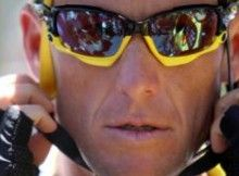 555d227f84c Professional cyclist and Tour De France winner Lance Armstrong wears Oakley  Jawbone sunglasses.