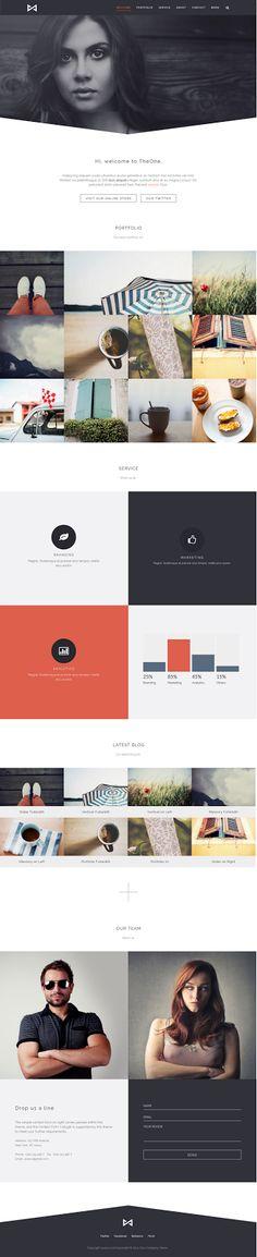 THEONE Parallax Onepage WordPress Theme #webdesign Design Sites, Ui Ux Design, Graphic Design, Layout Online, Concept Web, Image Icon, Ui Web, Landing Page Design, Site Internet