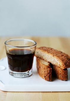 Wake your guests up with a shot of espresso and cinnamon biscotti
