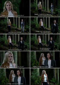 """""""Does it matter if I mind the company? If i say no, you'll just come anyway."""" Regina and Emma - 4 * 5 """"Breaking Glass"""""""