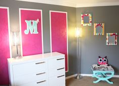 I love the rectangle wall design for a future kid's room or nursery.  Thought about doing this for Lilli's nursery.