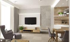 Wystrój wnętrz - Salon - pomysły na aranżacje. Projekty, które stanowią prawdziwe inspiracje dla każdego, dla kogo liczy się dobry design, oryginalny styl i nieprzeciętne rozwiązania w nowoczesnym projektowaniu i dekorowaniu wnętrz. Obejrzyj zdjęcia! Living Room Designs, Living Room Decor, Dining Room, Modern Fireplace, Tiles, Flooring, Interior Design, Architecture, House