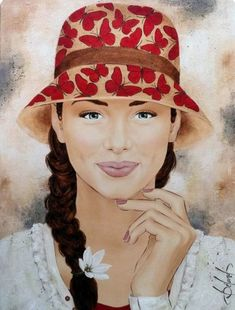 We are fearfully and wonderfully made! Painting Of Girl, Painting People, Figure Painting, Painting & Drawing, Watercolor Paintings, Art Visage, L'art Du Portrait, Portraits, Art Et Illustration
