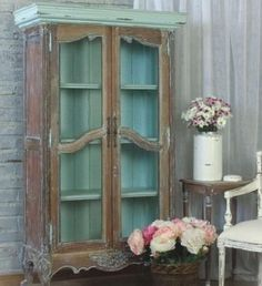 Chateau Linen Cupboard-Gorgeous! Love how the inside back matches the outside top!  Just gorgeous!