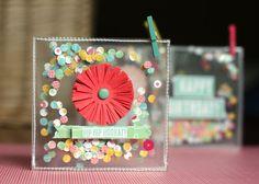 Eva Pizarro - Confetti cards using the Hip Hip Hooray! collection