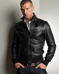 Loving this D&G leather jacket