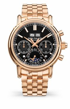 Introducing: The Patek Philippe 5204/1R-001 Split-Seconds Perpetual Calendar Goes Black Dial With Rose Gold Bracelet