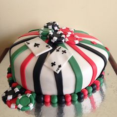 Poker design chocolate cake.