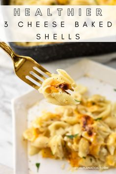 Healthier 3 Cheese Baked Shells by Meal Plan Addict. This healthier 3 cheese baked shells recipe is perfect for that cheesy pasta craving we all have…. but this version is bumped up with mega protein without meat! Get all the recipes and tips you need to get started with Meal Prepping today at www.mealplanaddict.com #mealplanaddict #mealprep #mealplanning Stuffed Shells Recipe, Stuffed Pasta Shells, Cheesy Pasta Bake, 30 Minute Dinners, Small Pasta, Easy Food To Make, Quick Meals, Meal Prep, Meal Planning