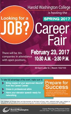Career Fair Flyer  Career Center Ideas    Marketing