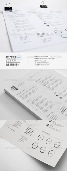 Vitaly Velygo (vvrealstar) on Pinterest - resume template with picture insert