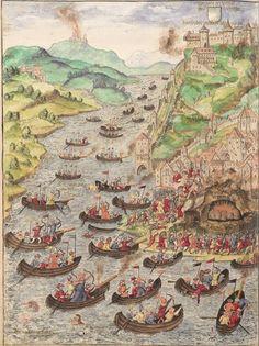 Ottoman army attacking Belgrade, 1521