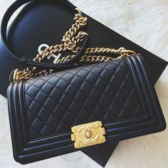 Chanel Bag Black | via Tumblr