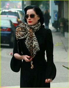 More Dita Von T. The right to do leopard. Jersey housewives take note!