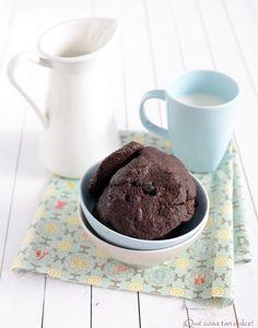 Recetas de galletas de chocolate negro con arándanos. by Que cosa tan Dulce en CharHadas.com