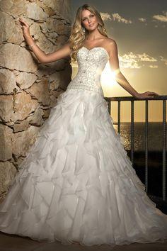 Sweetheart_A_Line_Beaded_Embroidered_Bodice_Ruffle-Danielle_Caprese-Wedding_Dress