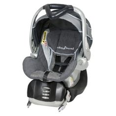Baby Trend Flex-Loc is a superior, affordable carseat.  It has adjustable straps that move with the turn of a knob, a handle that allows for multiple carrying positions, a bunting to warm your baby's feet and keep from losing those precious little socks, and it's release is at the foot area so it makes it harder for someone to get the carseat out of the stoller if they are attempting to kidnap your child (I am a cop's wife, so scenarios like this are never far from our minds).