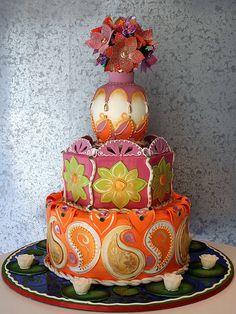 I love this Indian wedding cake!!!