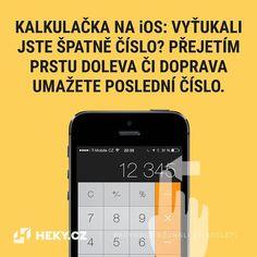 Používáte kalkulačku na iOS a udělali jste chybu? Mazat lze posunutím prstu Ios, Electronics, Phone, Telephone, Mobile Phones, Consumer Electronics