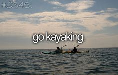 Specifically sea kayaking: around in the California Channel Islands sea caves :) ✓ check ♥