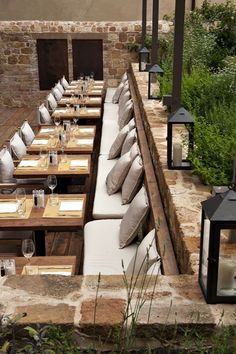 New Outdoor Cafe Seating Design Restaurant Ideas Cafe Restaurant, Restaurant En Plein Air, Outdoor Restaurant Patio, Restaurant Seating, Outdoor Cafe, Restaurant Concept, Restaurant Furniture, Restaurant Ideas, Industrial Restaurant