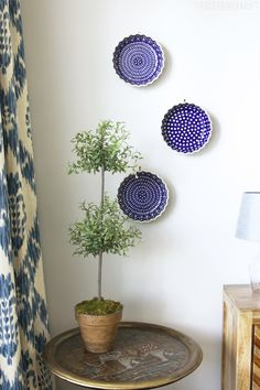 Hanging Plates on the Wall - Polish Pottery - The Inspired Room