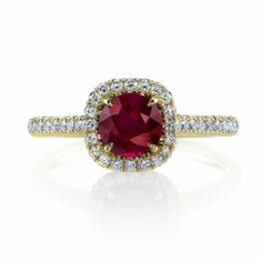 Omi Prive: Ruby and Diamond Ring