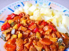 Vegetarian Recipes, Pork, Ethnic Recipes, Sweet, Diet, Kale Stir Fry, Candy, Pork Chops, Vegetable Dip Recipes