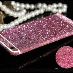 iPhone 6 / 6s glitter stickers iPhone glitter stickers, brand new never been used purple and pink available Accessories Phone Cases
