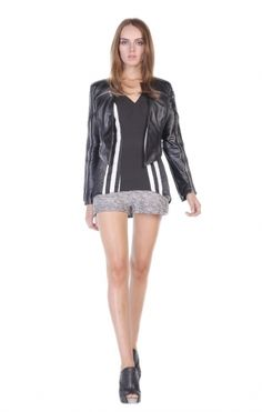 A feminine take on the classic motorcyle leather j