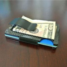 Carbon Fiber Wallet + Money Clip | Huckberry