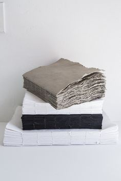 The Liasse ( bundle ) notebook is handmade with cotton pulp & water medium 10 w x 13.5 h small 7 w x 9.5 h xsmall 5w x 7.5h