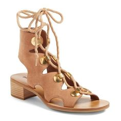Chloé Caged Lace-Up Sandals fashion Style online limited edition sale online cheap best store to get gXzxXaAl