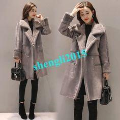 f23d6218955 Womens Winter Long Thicken Warm Lamb Wool Parka Coats Outwear Jackets  Fleece Hot Mens Leather Coats