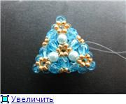 Free photo tutorial for Triangle earring sized